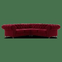 Notting Hill Velvet Chesterfield L-Shaped Modular Corner Sofa