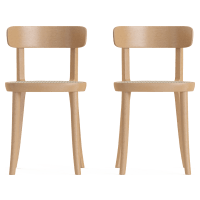 Bianca Rattan Set of 2 Dining Chairs