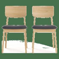 Mokuzai Set of 2 Dining Chairs