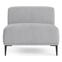 Seta Armless Modular Sofa Piece