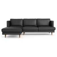 Calvin Leather 3 Seater Chaise Sofa