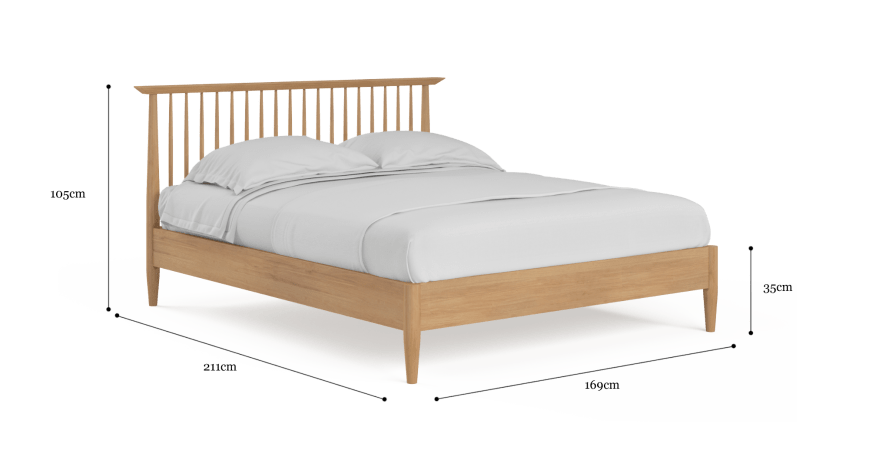 Ethan Queen Size Wooden Bed Frame, What Are The Dimensions For A Queen Size Bed Frame