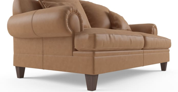 Mila Leather 2 Seater Sofa