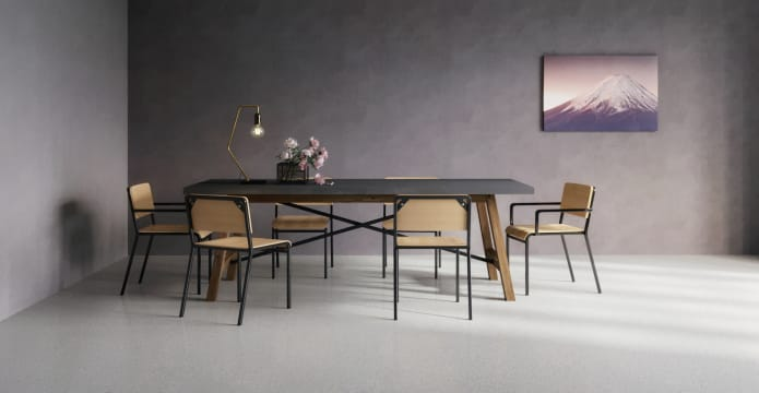 Dining Set Dover Table 4x Grammar 2x Carver Chairs
