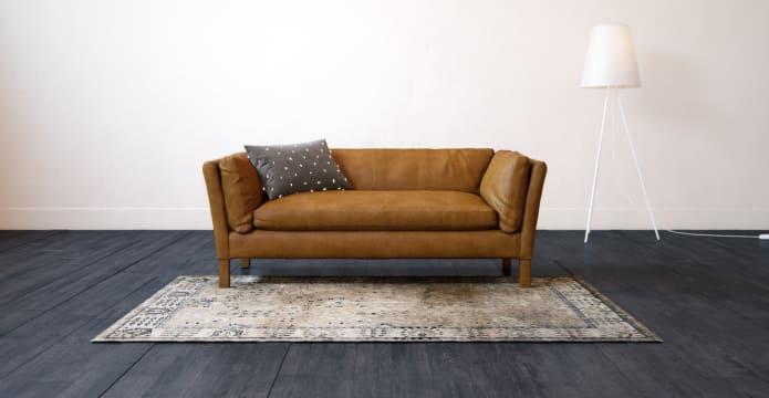 Miles Leather 3 Seater Sofa