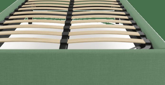Single Size Upholstered Slimline Bed Frame Base