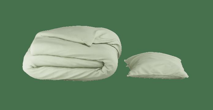 Supima Cotton Green Lily Duvet Cover Set