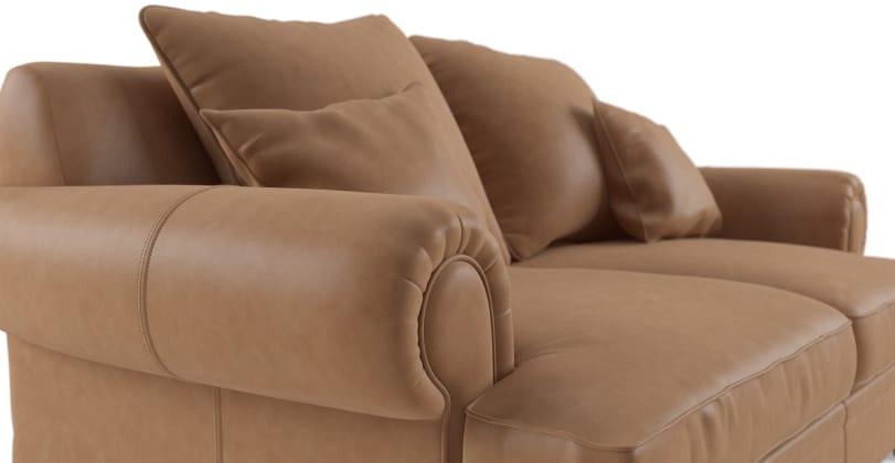 Mila Leather 2 Seater Sofa