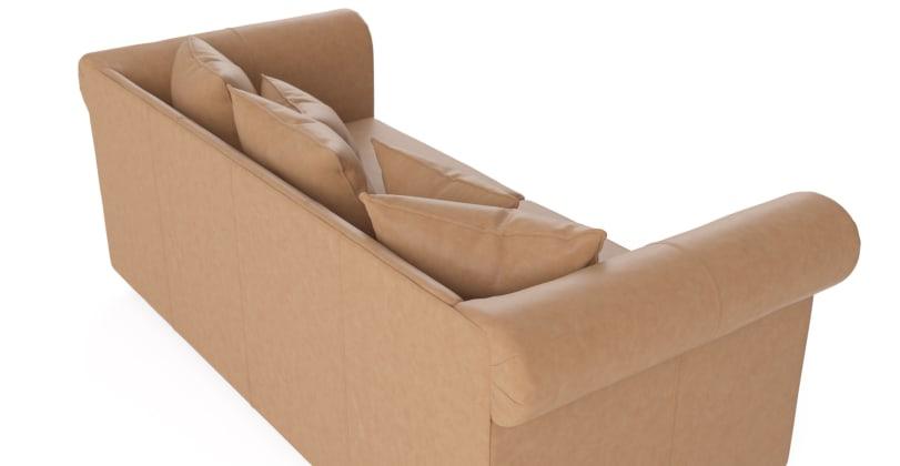 Jamie Leather 3 Seater Sofa