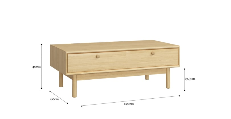 Kaneko Coffee Table with Drawer
