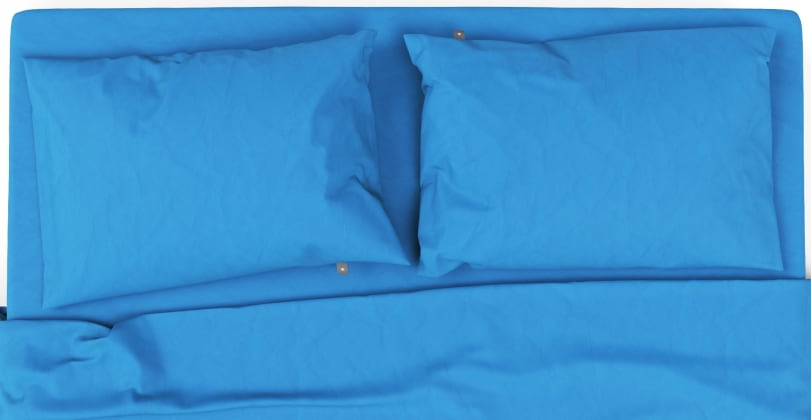 Brosa Essentials Cotton Rich Bed Sheets with Quilt Cover Set French Blue