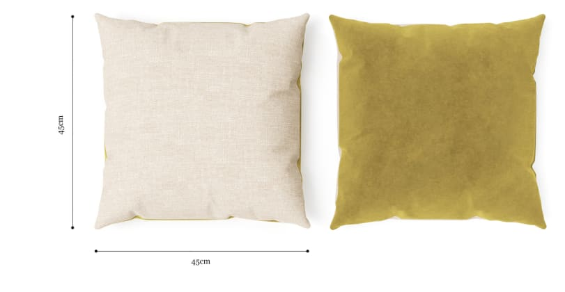 Elementary Cushion Citrine with French Beige