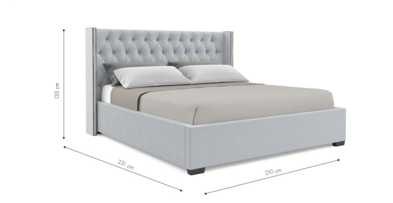 king size bed frame dimensions stella gas lift king size bed frame 28553