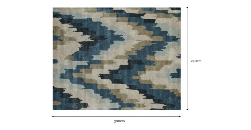 Kappil Large Wool Rug 240 x 300cm