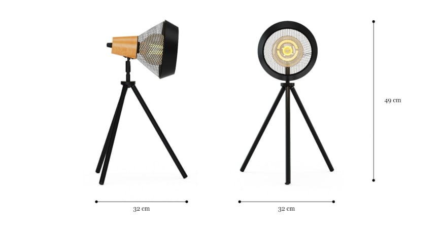 cetus tripod table lamp