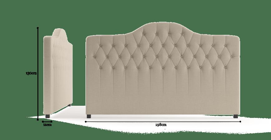 Tara King Size Bed Head