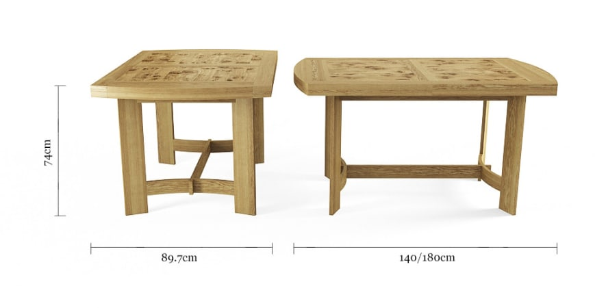 Carter 180cm Extendable Table