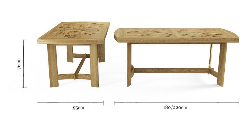 Carter 220cm Extendable Table