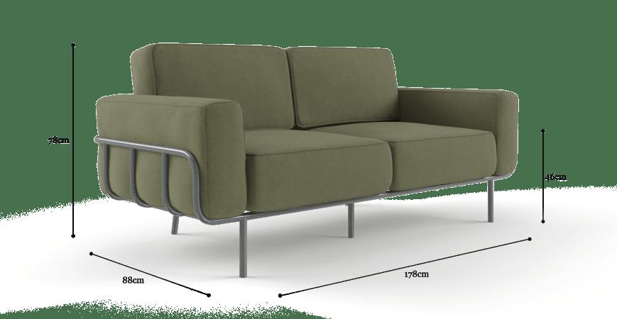 Wilkes 2 Seater Sofa