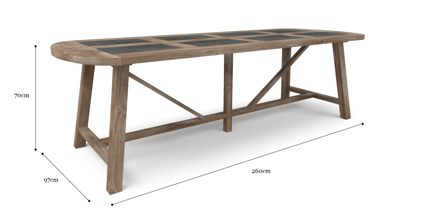 Warner Trestle Dining Table