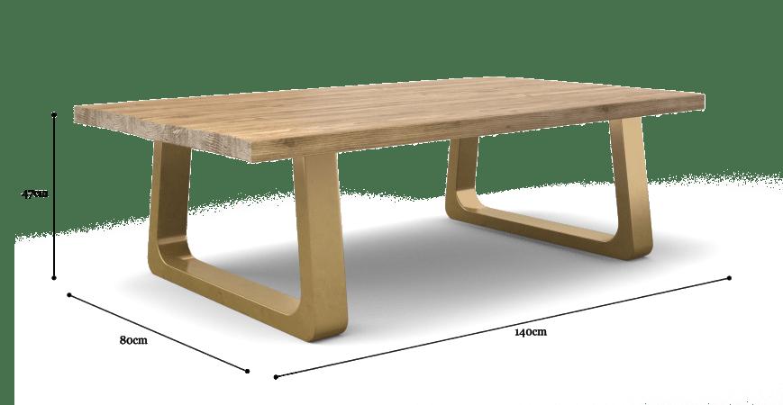 Watkins Coffee Table with Wide Legs