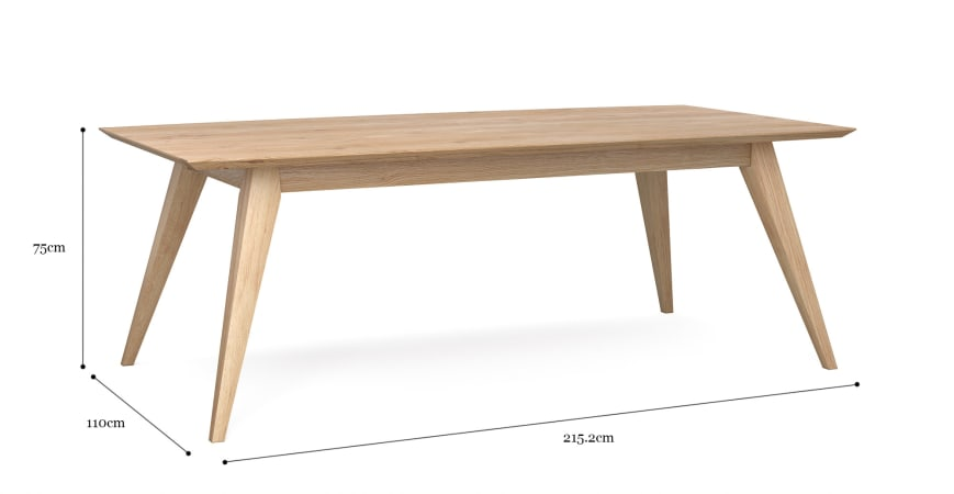 Hans 215cm Dining Table