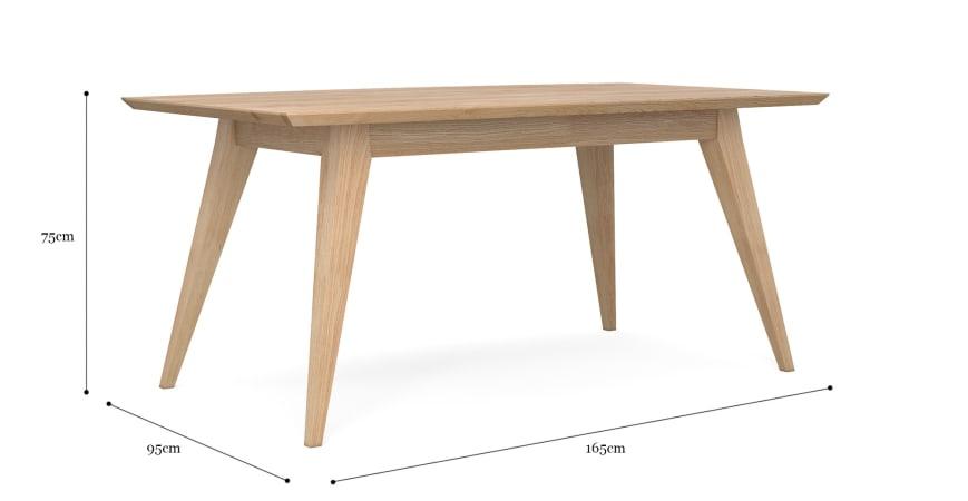 Hans 165cm Dining Table