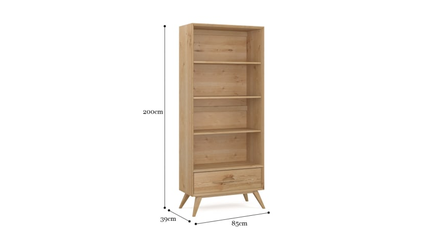 Hans Wide Bookcase
