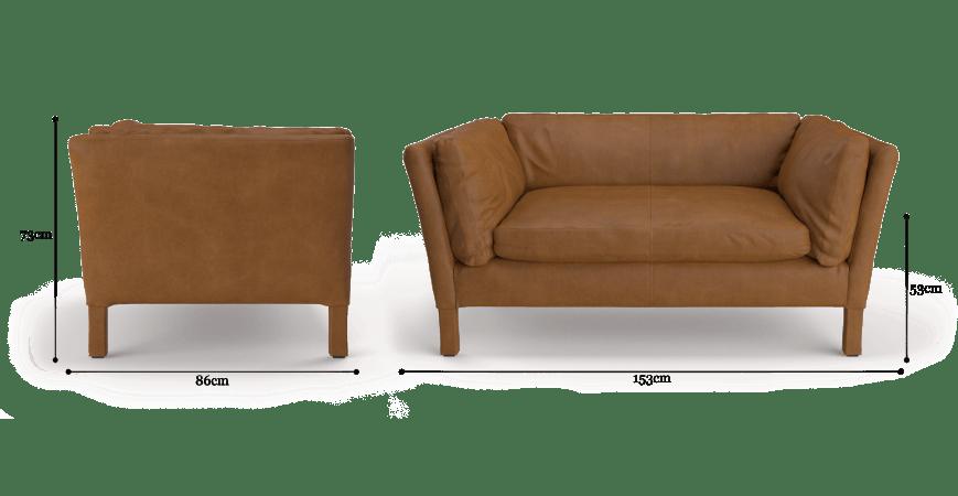 Miles Leather 2 Seater Sofa