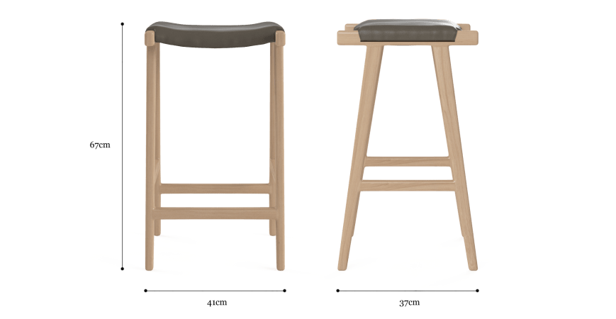 Milly Leather Bar Stool