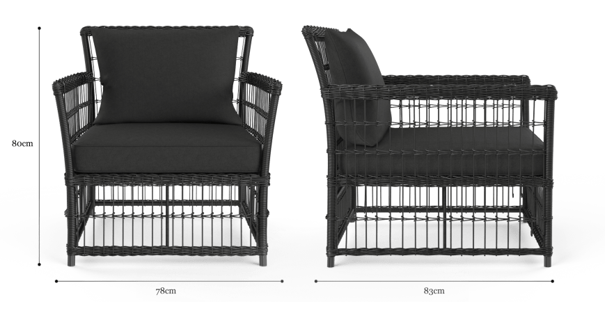 Naxos Wide Outdoor 2x Armchair