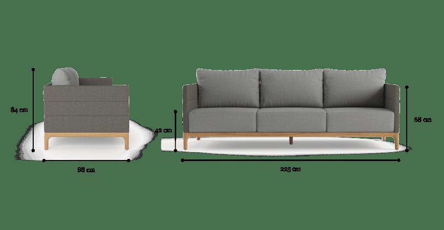 Rhodes Outdoor 3 Seater Sofa