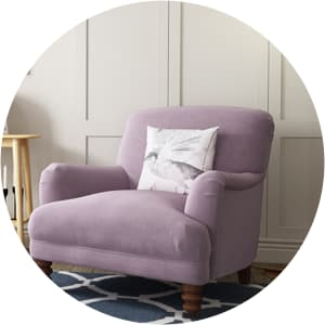 Living room chair in purple