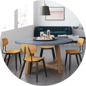 Lucille round concrete table
