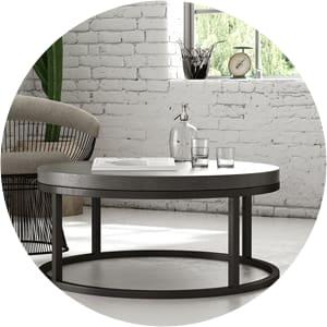 Blake industrial coffee table