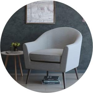 Saffron scandinavian chair grey