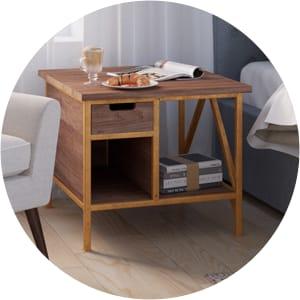 Augustine modern bedside table