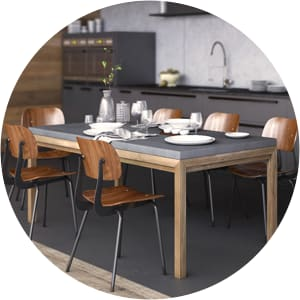 Mistral modern dining table setting