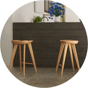 Adam wooden bar stools