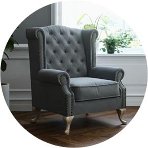 Nottage high back armchair