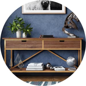 Augustine brass console table