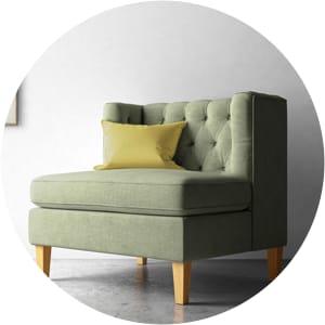 William tufted armchair
