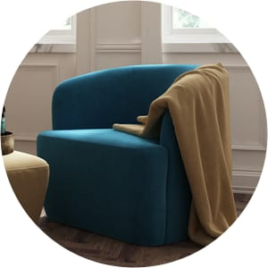 Amber arm chair blue