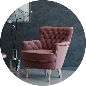 Alessia accent chair pink