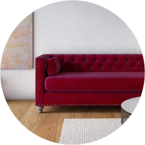 Florence red sofa