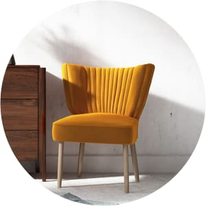Archie armchair yellow gold