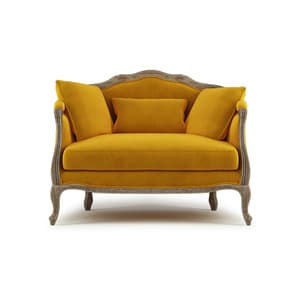 Lucy 2 seater sofa yellow