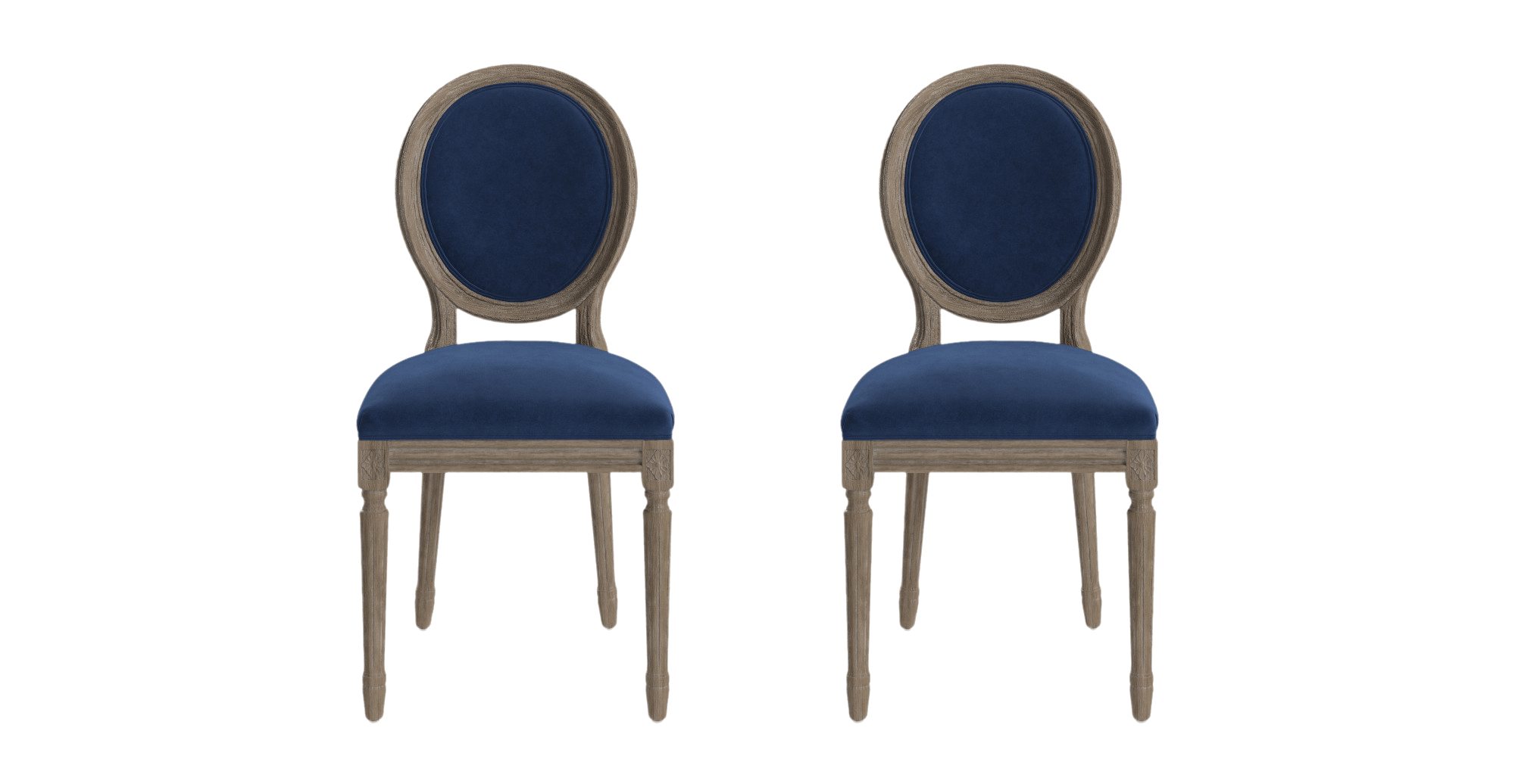 louis  x dining chair - louis dining chair set of   ocean blue change