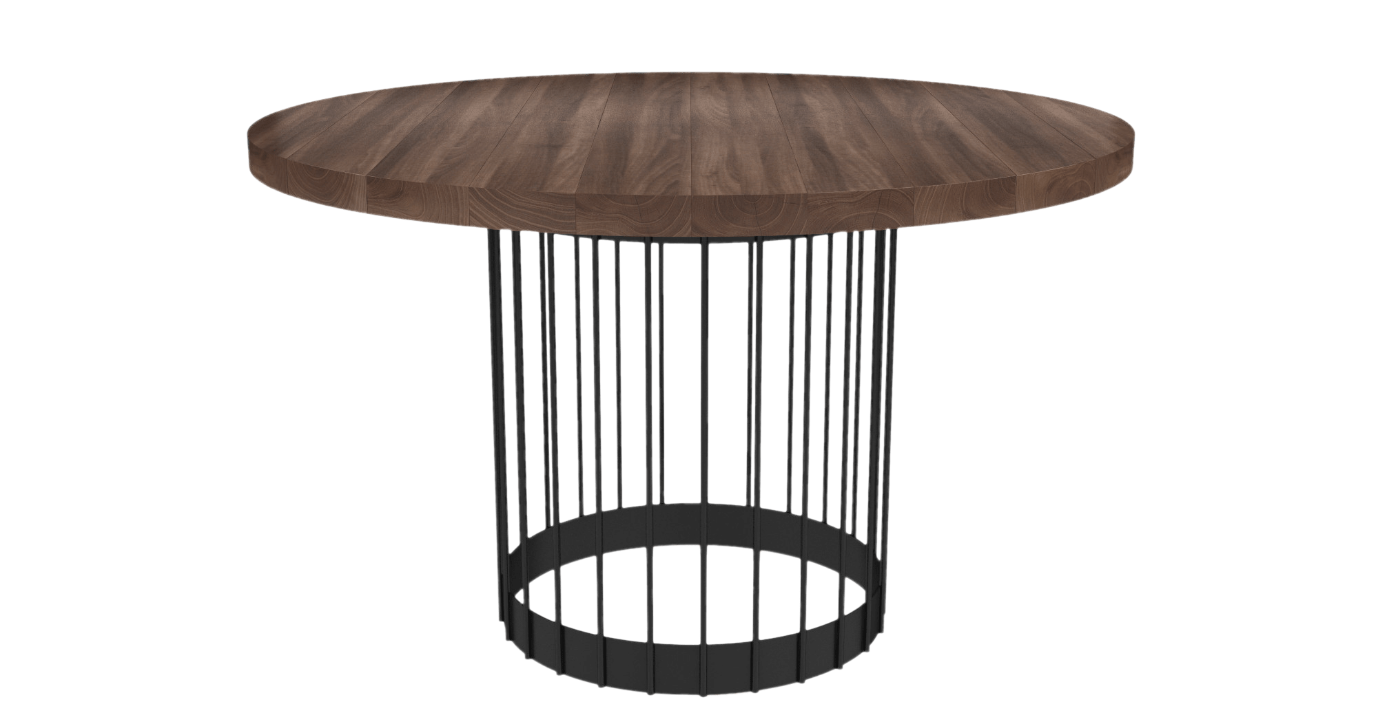 Outdoor round dining table - Ned Round Dining Table Walnut Change