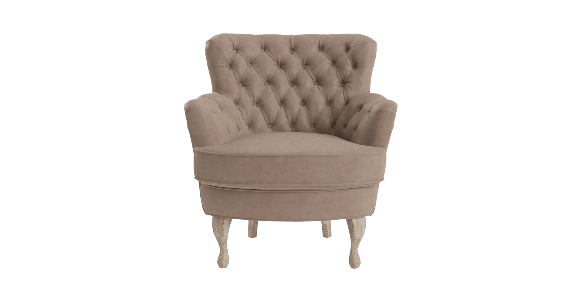 Alessia Leather Accent Chair , Taupe Change